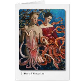 Cartão Os dois dos tentáculos