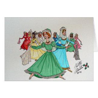 Cartão Os doze dias do Natal