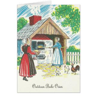 Cartão Os Dutch de Pensilvânia Shoo a receita Bak