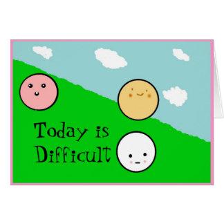 Cartão os emotionfullfaces, são hoje difíceis