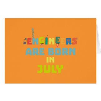 Cartão Os engenheiros são em julho Zw3c8 nascidos