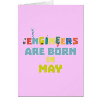 Cartão Os engenheiros são em maio Z863d nascidos