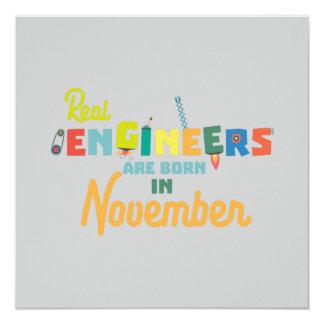 Cartão Os engenheiros são em novembro Z9g4h nascidos