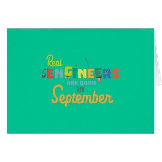 Cartão Os engenheiros são em setembro Zt500 nascidos
