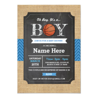 Cartão Os esportes do chá de fraldas do menino azul do