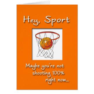 Cartão Os esportes obtêm bem logo