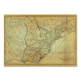 Cartão Os Estados Unidos America do Norte & mapa de