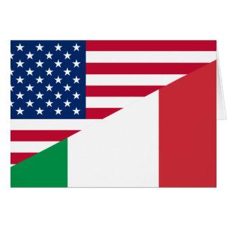 Cartão Os Estados Unidos e Italia, híbrido