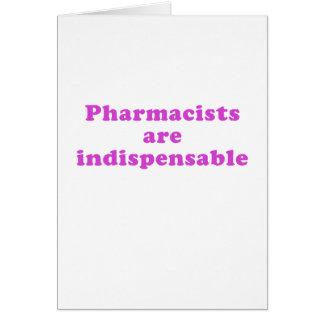 Cartão Os farmacêuticos são indispensáveis