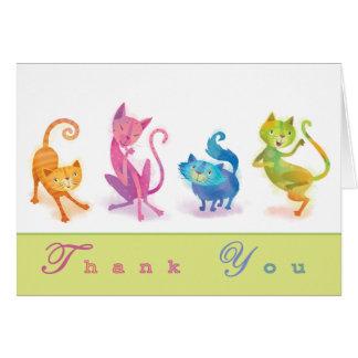 Cartão Os gatos agradecem-lhe Notecard