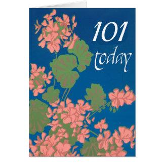 Cartão Os gerânio do rosa Salmon personalizam para todo o