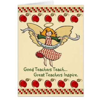 Cartão Os grandes professores inspiram