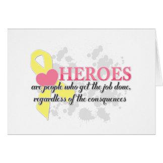 Cartão Os heróis são pessoas