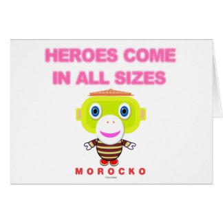 Cartão Os heróis vêm em todo o Macaco-Morocko