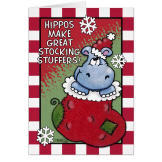 Cartão Os hipopótamos fazem GRANDES Stuffers da meia
