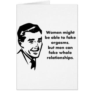 Cartão os homens podem falsificar relações inteiras
