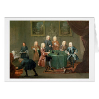 Cartão Os irmãos Clarke com outros cavalheiros que tomam
