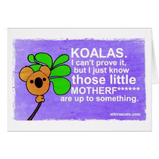 Cartão Os Koalas são até algo
