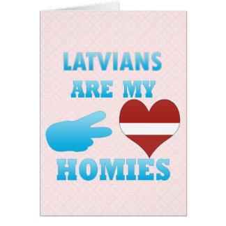 Cartão Os Latvians são meu Homies