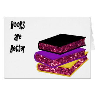 Cartão Os livros são melhores