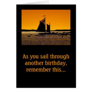 Cartão Os marinheiros pegam um bote pequeno!