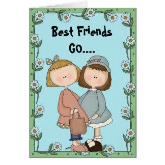 Cartão Os melhores amigos VÃO….