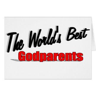 Cartão Os melhores Godparents do mundo