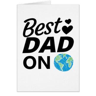 Cartão Os melhores homens do dia do pai do pai nunca