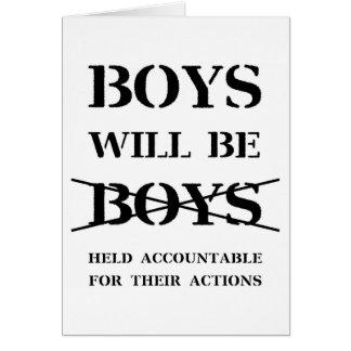 Cartão Os meninos serão meninos (a praga livre)