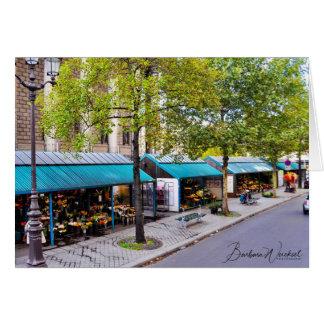 Cartão Os mercados da flor de Paris