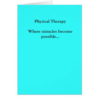 Cartão Os milagre físicos de TherapyWhere tornam-se