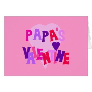 Cartão Os namorados da papá quente do coração das cores