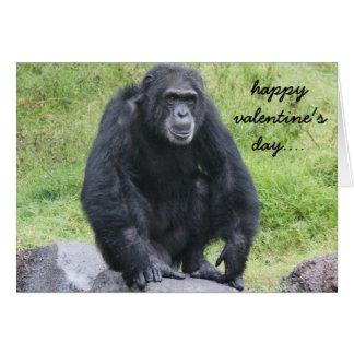 Cartão Os namorados engraçados do chimpanzé, querem