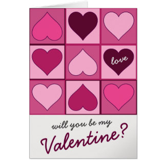 Cartão Os namorados picam corações gráficos acima abaixo