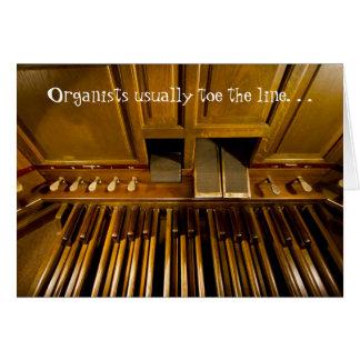 Cartão Os organistas toe geralmente o linecard