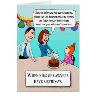 Cartão Os pais engraçados são aniversário dos advogados