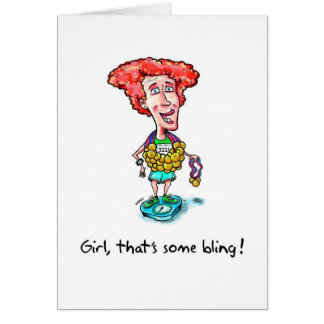 Cartão Os parabéns cardam para o Marathoner - Bling