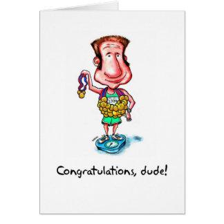 Cartão Os parabéns cardam para o Marathoner - gajo das