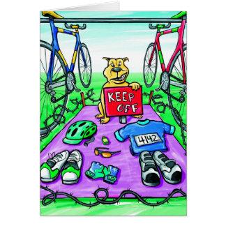 Cartão Os parabéns cardam para Triathlete - evite