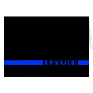 Cartão Os parabéns do agente da polícia diluem Blue Line