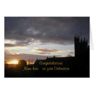 Cartão Os parabéns na classificação personalizam