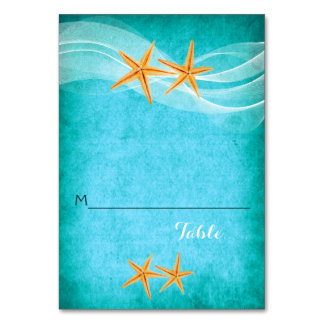 Cartão Os pares da estrela do mar e o casamento de praia