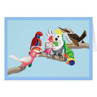 Cartão Os pássaros australianos são tão bonito