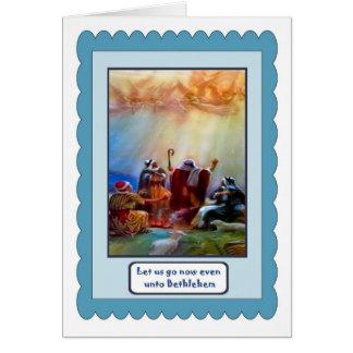 Cartão Os pastores ouvem a chamada