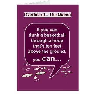 Cartão Os pensamentos da rainha em HoopDunk-HamperStuff