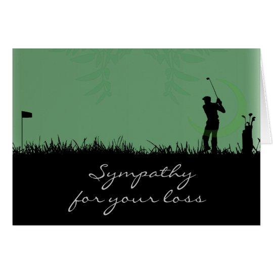 Cartão Os pêsames cardam para um homem que ame Golf