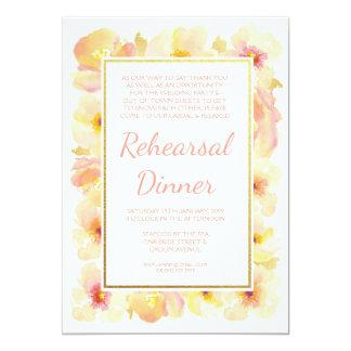 Cartão Os pêssegos & o jantar de ensaio de creme do ouro