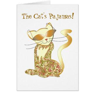 Cartão Os pijamas do gato!