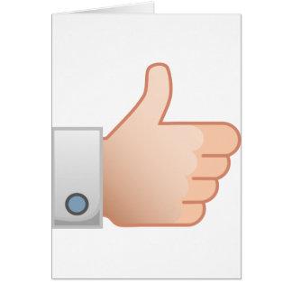 Cartão Os polegares gostam acima