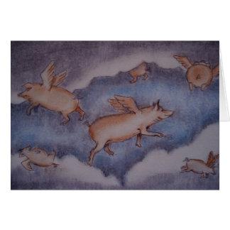 Cartão os porcos puderam voar…